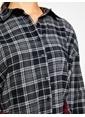 Koton Kurdela Detaylı Gömlek Elbise Siyah